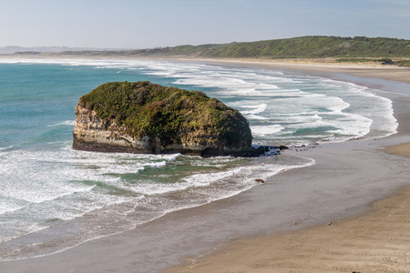 islet: Islet at the beach on Chiloe island, Chile.