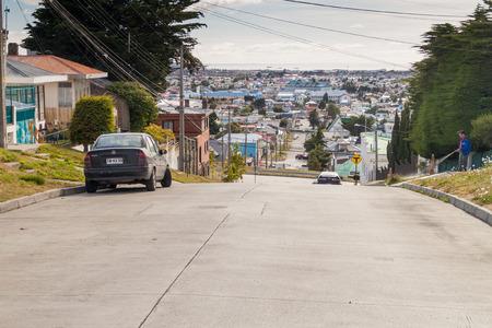 punta arenas: PUNTA ARENAS - MARCH 4, 2015: Street in Punta Arenas, Chile Editorial