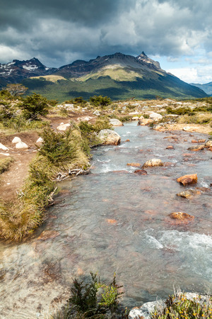 traquility: Creek in Tierra del Fuego, Argentina Stock Photo