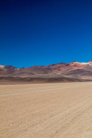 salvador dali: Dust road in Salvador Dali Desert in Eduardo Avaroa Andean Fauna National Reserve, Bolivia