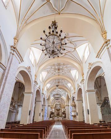 merced: SUCRE, BOLIVIA - APRIL 22, 2015: Interior of Templo Nuestra Senora de la Merced church in Sucre, capital of Bolivia. Editorial