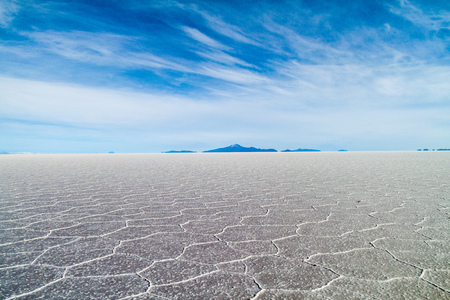 evaporate: Worlds biggest salt plain Salar de Uyuni, Bolivia Stock Photo