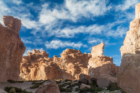 italia: Rock formation called Italia perdida in Bolivia Stock Photo