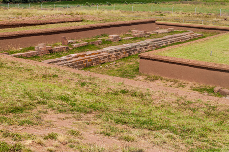 rectilinear: Pumapunku, Pre-Columbian archaeological site, Bolivia Stock Photo