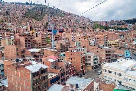 la paz: Teleferico (cable car) La Paz, Bolivia