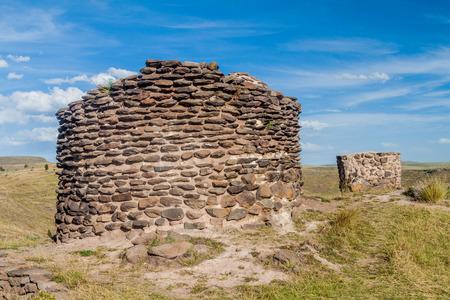 funerary: Ruins of funerary towers Sillustani, Peru