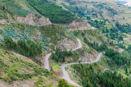 pisac: Hairpin road near Pisac village, Peru