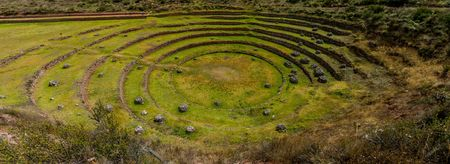 terracing: Agricultural terracing of Moray, Sacred Valley, Peru