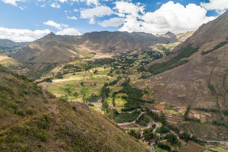 pisac: Valley near Pisac village, Peru Stock Photo