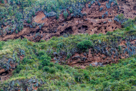 pisac: Plundered Inca tombs near Pisac village, Peru