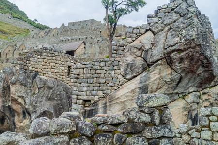 condor: Temple of the Condor at Machu Picchu ruins, Peru