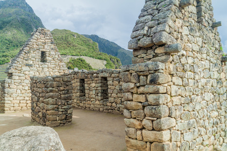 doorways: House of three doorways at Machu Picchu ruins, Peru