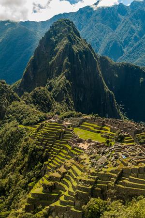 Machu Picchu ruins, Peru. 免版税图像