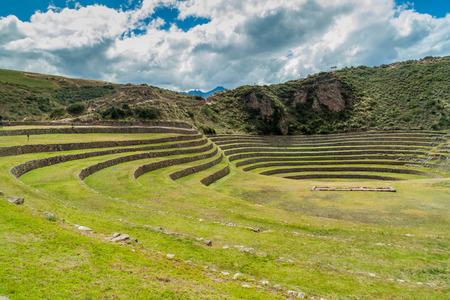 inca: Inca agricultural terraces in Moray, Sacred Valley, Peru