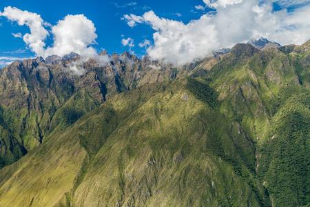 steep: Steep mountains near Machu Picchu, Peru