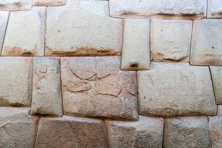 インカの完璧な石造りの詳細。壁...