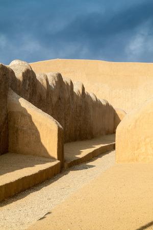 columbian: Ruins of adobe city Chan Chan in Trujillo, Peru