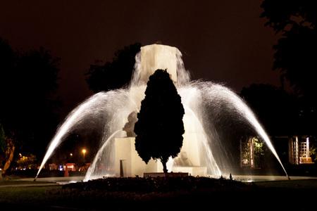 liquid reflect: El Circuito Magico del Agua - park with a series of different fountains in Lima, Peru.
