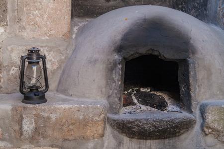 catholic nuns: AREQUIPA, PERU - MAY 30, 2015: Kitchen in Santa Catalina monastery in Arequipa, Peru Editorial