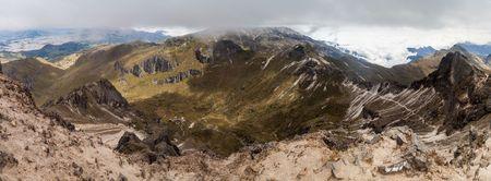 inhospitable: Crater of Rucu Pichincha volcano, Ecuador