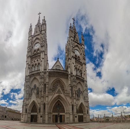 vow: Basilica of the National Vow in Quito, Ecuador Stock Photo