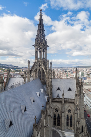 vow: Roof of the Basilica of the National Vow in Quito, Ecuador