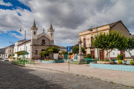 san agustin: IBARRA, ECUADOR - JUNE 28, 2015: Church of San Agustin in Ibarra town, Ecuador