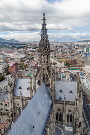 vow: Tower of the Basilica of the National Vow in Quito, Ecuador