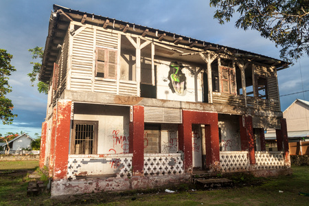 laurent: Abbandoned building in St Laurent du Maroni, French Guiana.