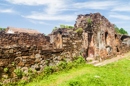 penal: Ruins of former penal colony at Ile Royale, one of the islands of Iles du Salut (Islands of Salvation) in French Guiana