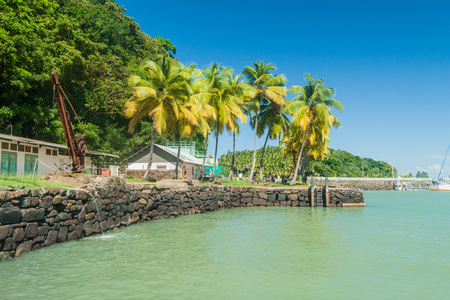 political prisoner: Coast of Ile Royale, one of the islands of Iles du Salut (Islands of Salvation) in French Guiana Stock Photo