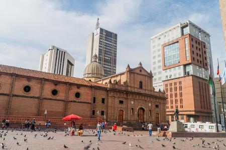 Cali, Colombia - 9 settembre 2015: la chiesa di San Francisco, nel centro di Cali.