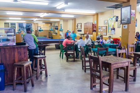 antioquia: GUATAPE, COLOMBIA - SEPTEMBER 2, 2015: Interior of a pub in Guatape village, Colombia