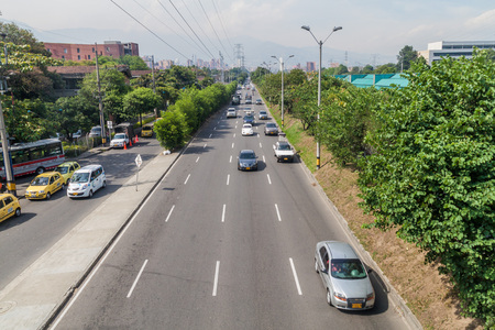 medellin: MEDELLIN, COLOMBIA - SEPTEMBER 2, 2015: Highway  in Medellin. Editorial