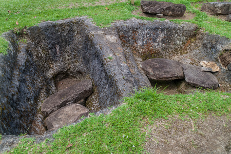 san agustin: Ancient tombs in archeological park in San Agustin, Colombia