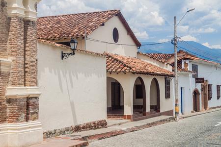 antioquia: SANTA FE DE ANTIOQUIA, COLOMBIA - SEPTEMBER 3, 2015: Old colonial houses in Santa Fe de Antioquia, Colombia. Editorial