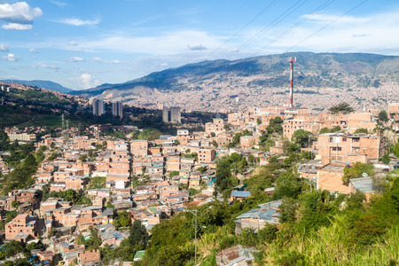 displace: Aerial view of Medellin, Colombia Stock Photo