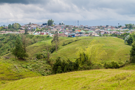 humid south: Filandia village in coffee growing region of Colombia Stock Photo