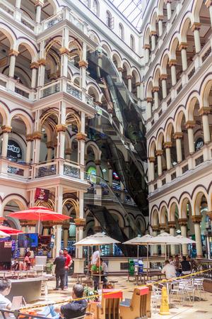 comercial: MEDELLIN, COLOMBIA - SEPTEMBER 1, 2015: Shopping mall called Centro Comercial Palacio Nacional. Located in the center of Medellin. Editorial