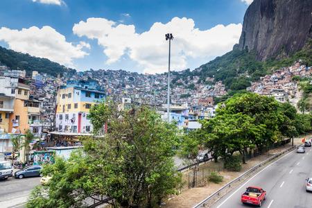 rio de janeiro: RIO DE JANEIRO, BRAZIL - JAN 29: View of favela Rocinha in Rio de Janeiro, Brazil Editorial