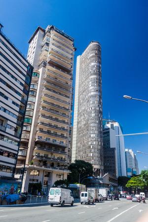 italia: SAO PAULO, BRAZIL - FEBRUARY 3, 2015: Edificio Italia building in Sao Paulo, Brazil