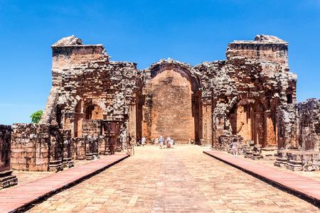 jesuit: TRINIDAD, PARAGUAY - FEB 8, 2015: Jesuit mission ruins in Trinidad, Paraguay Editorial