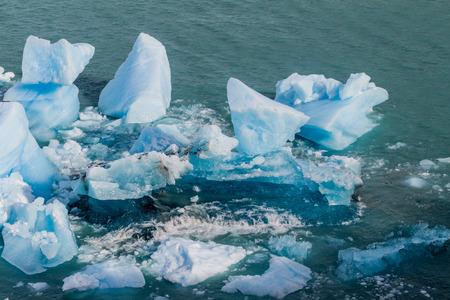 moreno glacier: Icebergs near Perito Moreno glacier in National Park Glaciares, Argentina