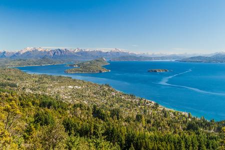 nahuel: Aerial view of Nahuel Huapi lake near Bariloche, Argentina Stock Photo