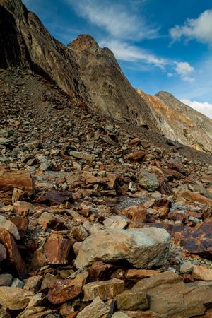 fuego: Rocky mountain in Tierra del Fuego, Argentina Stock Photo