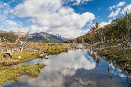 tierra del fuego: Mountains at Tierra del Fuego, Argentina