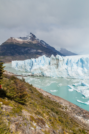 calving: Perito Moreno glacier, Argentina Stock Photo
