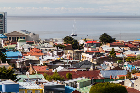 arenas: Aerial view of Punta Arenas, Chile