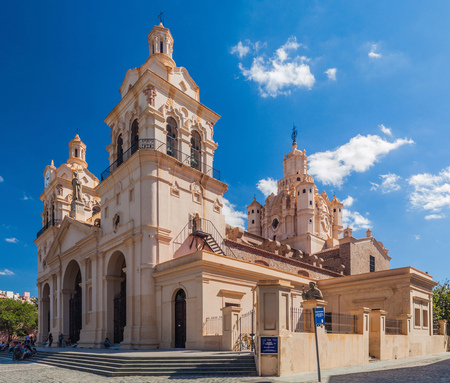 assumption: CORDOBA, ARGENTINA - APRIL 2, 2015: View of Cathedral of Cordoba (Our Lady of the Assumption).