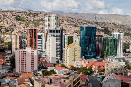 Skyscrapers in the center of La Paz, Bolivia